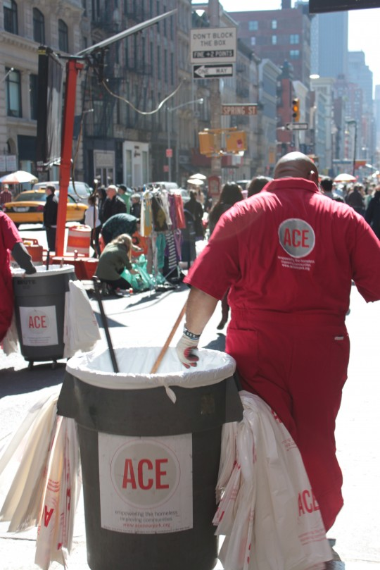 ACE NYC Street Sweeper on Broadway.