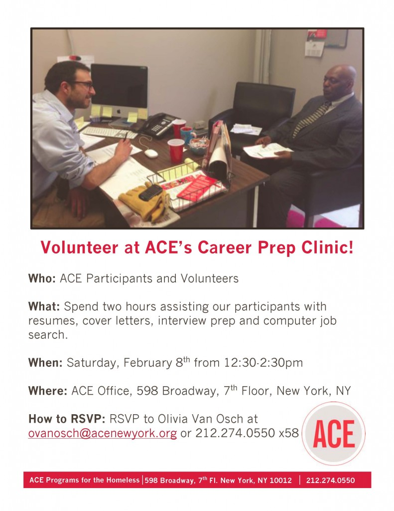 Feb 8 Career Prep Clinic